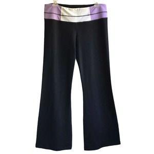 Lululemon Groove Pants Flare Black Purple 10 NWT
